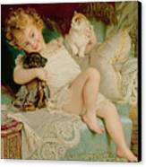 Playmates Canvas Print by Emile Munier