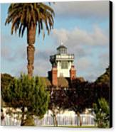 Point Fermin Light - San Pedro - Southern California Canvas Print by Christine Till