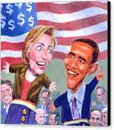 Political Puppets Canvas Print by Ken Meyer jr