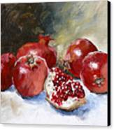 Pomegranate Canvas Print by Tanya Jansen