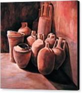 Pompeii - Jars Canvas Print by Keith Gantos