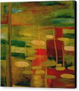 Pond Reflections Canvas Print by Jun Jamosmos