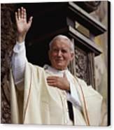 Pope John Paul II Celebrates Mass Canvas Print by James L. Stanfield