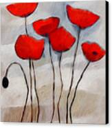Poppies Painting Canvas Print by Lutz Baar