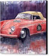Porsche 356 Speedster Mille Miglia Canvas Print by Yuriy  Shevchuk
