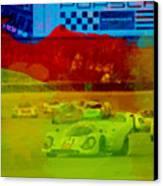 Porsche 917 Racing Canvas Print by Naxart Studio
