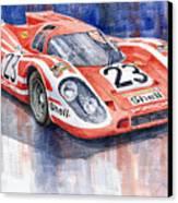 Porsche 917k Winning Le Mans 1970 Canvas Print by Yuriy  Shevchuk