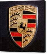 Porsche Emblem -211c Canvas Print by Jill Reger