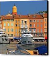 Port Of Saint-tropez In France Canvas Print by Giancarlo Liguori