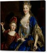 Portrait Of Catherine Coustard Canvas Print by Nicolas de Largilliere