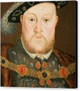 Portrait Of Henry Viii Canvas Print by English School