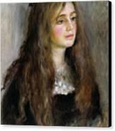 Portrait Of Julie Manet  Canvas Print by Pierre Auguste Renoir