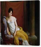 Portrait Of Madame Recamier Canvas Print by Francois Pascal Simon Gerard