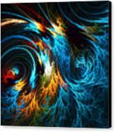 Poseidon's Wrath Canvas Print by Lourry Legarde