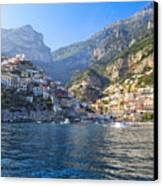 Positano Harbor View Canvas Print by George Oze