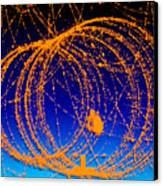 Positron Track Canvas Print by Photo Researchers