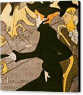 Poster Advertising Le Divan Japonais Canvas Print by Henri de Toulouse Lautrec