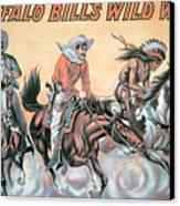 Poster For Buffalo Bill's Wild West Show Canvas Print by American School