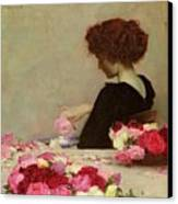 Pot Pourri Canvas Print by Herbert James Draper