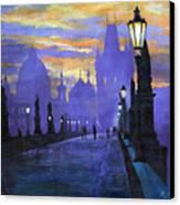 Prague Charles Bridge Sunrise Canvas Print by Yuriy  Shevchuk