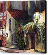 Prague Novy Svet Kapucinska Str Canvas Print by Yuriy  Shevchuk