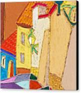 Prague Old Street Ceminska Novy Svet Canvas Print by Yuriy  Shevchuk