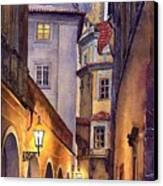 Prague Old Street  Canvas Print by Yuriy  Shevchuk