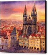 Prague Old Town Square 02 Canvas Print by Yuriy  Shevchuk