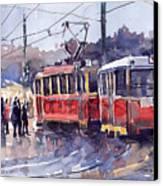 Prague Old Tram 01 Canvas Print by Yuriy  Shevchuk