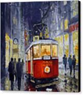 Prague Old Tram 06 Canvas Print by Yuriy  Shevchuk