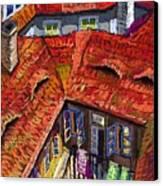 Prague Roofs 01 Canvas Print by Yuriy  Shevchuk