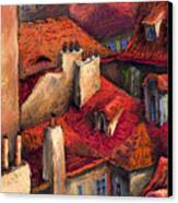 Prague Roofs Canvas Print by Yuriy  Shevchuk