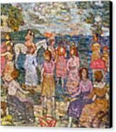 Prendergast: Beach, 1916 Canvas Print by Granger