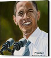 President Barack Obama Canvas Print by Christopher Oakley