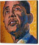 President Barack Obama Canvas Print by David Lloyd Glover