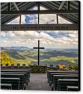 Pretty Place Chapel - Blue Ridge Mountains Sc Canvas Print by Dave Allen