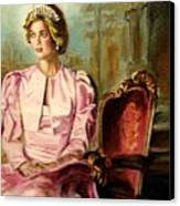 Princess Diana The Peoples Princess Canvas Print by Carole Spandau