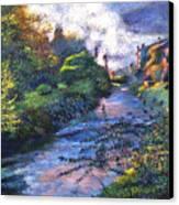 Provence River Canvas Print by David Lloyd Glover