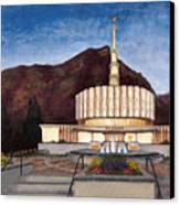 Provo Temple Canvas Print by Jeff Brimley