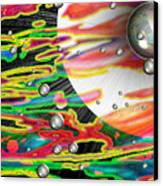Psychedelic Planetary Journey Canvas Print by Roxy Riou