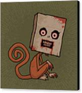 Psycho Sack Monkey Canvas Print by John Schwegel