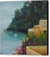 Pueblo Bay Canvas Print by Linda Hiller