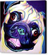 Pug - Rider Canvas Print by Alicia VanNoy Call