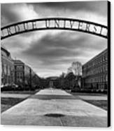Purdue Entrance Sign Canvas Print by Coby Cooper