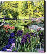 Purple Garden Canvas Print by David Lloyd Glover