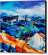 Purple Hills Canvas Print by Elise Palmigiani