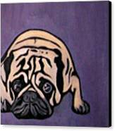 Purple Pug Canvas Print by Darren Stein