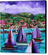 Purple Skies Over St. John Canvas Print by Patti Schermerhorn