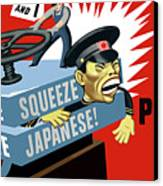 Put The Squeeze On The Japanese Canvas Print by War Is Hell Store
