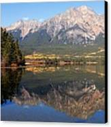 Pyramid Mountain And Pyramid Lake 2 Canvas Print by Larry Ricker